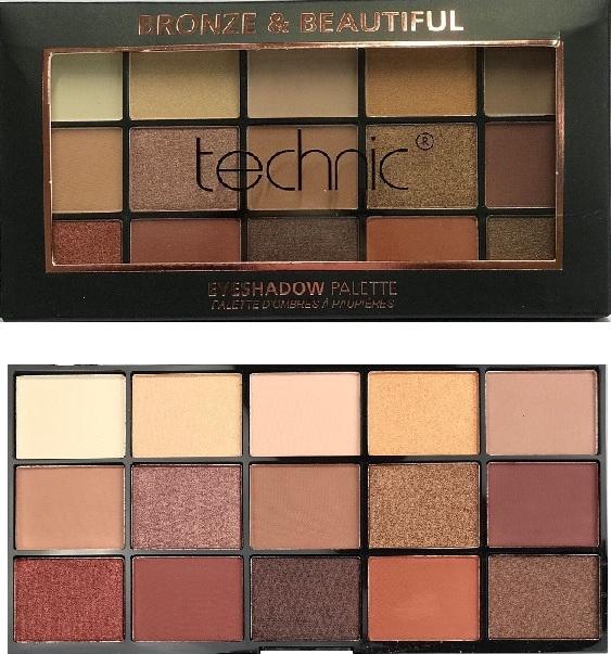 Technic X 15 Eyeshadow Palette Bronze & Beautiful
